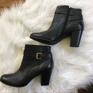 Cole Haan Black Leather Booties Boots